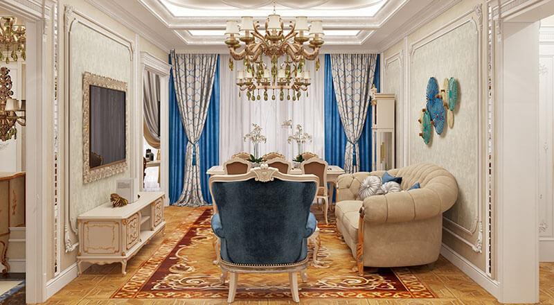 Оформление квартиры в классическом стиле 2