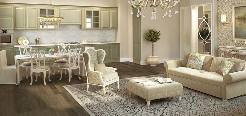 Оформление квартиры в классическом стиле 3