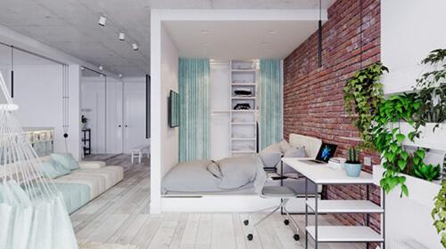 дизайн квартиры студии 3