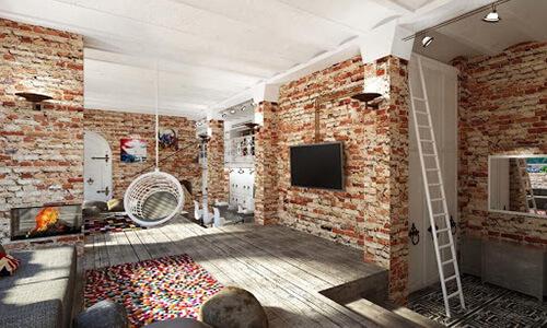 Квартира в стиле лофт 1